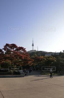 韓国・南山コル韓屋マウルの写真・画像素材[1382202]