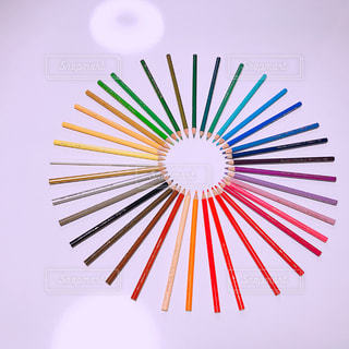 36色いろえんぴつ。No.4。の写真・画像素材[1386136]