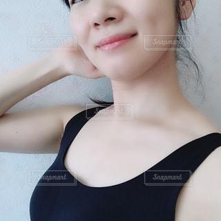 女性のアップの写真・画像素材[1388357]
