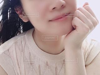 selfie を取る女性の写真・画像素材[1401491]