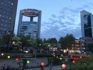 韓国・ソウルにて夜景。の写真・画像素材[1404724]