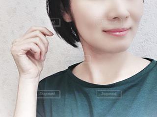 女性のアップの写真・画像素材[1411299]