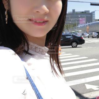 女性のアップの写真・画像素材[1422253]