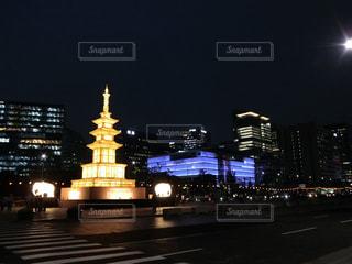 韓国・ソウル・光化門広場にての写真・画像素材[1424304]