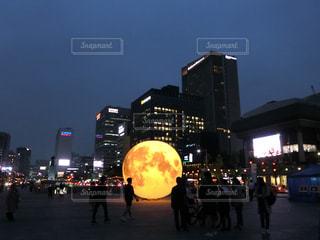 韓国・ソウル・光化門広場にての写真・画像素材[1424308]