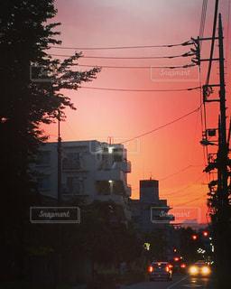 綺麗な綺麗な夕焼けの写真・画像素材[1342121]