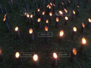 竹の灯籠の写真・画像素材[1342438]