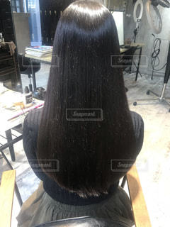 髪の毛なっが!!の写真・画像素材[1569384]