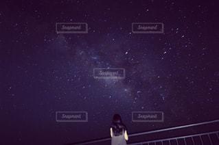 星空と私の写真・画像素材[1356476]