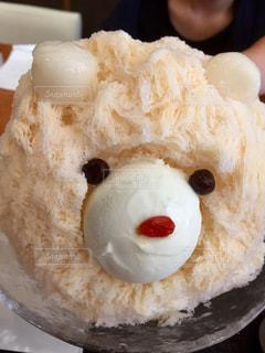 クマのミルク氷の写真・画像素材[1425053]