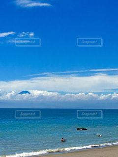 ある日の秋谷海岸静かな海水浴場の写真・画像素材[1356471]