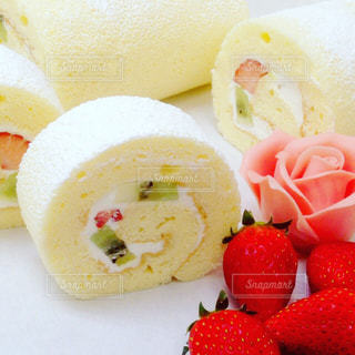 手作りロールケーキの写真・画像素材[1359739]