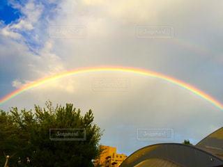 二重虹🌈と空の写真・画像素材[1347948]