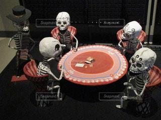 骸骨の札遊びの写真・画像素材[1350996]