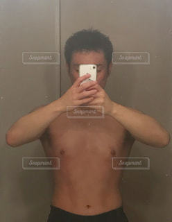 36歳 腹筋トレーニング&ダイエット 43日+71日目の写真・画像素材[1659797]