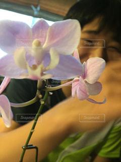 花を持っている人の写真・画像素材[1426595]