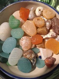 海岸で見つけた宝物の写真・画像素材[1632899]