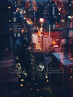 高層ビルからの夜景の写真・画像素材[1349614]