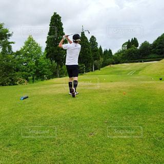 ゴルフラウンド中。の写真・画像素材[1390826]