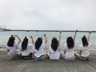 仲良し6人組 沖縄の写真・画像素材[1406745]