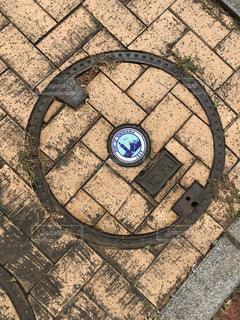 おしゃれなマンホールの写真・画像素材[3023582]