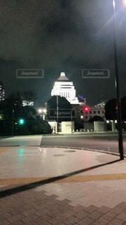 夜の国会議事堂の写真・画像素材[1352800]