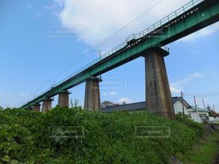 鉄橋のある風景の写真・画像素材[1366105]