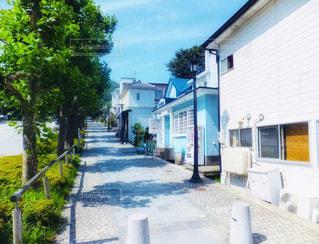 函館の坂の散歩道の写真・画像素材[2227593]