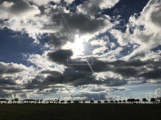 夕方の空☁️の写真・画像素材[1357988]