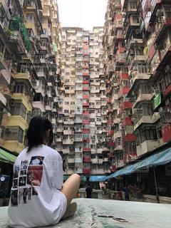 香港のモンスターマンションの写真・画像素材[1356557]