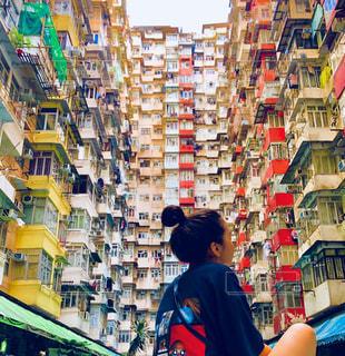 香港のマンションの写真・画像素材[1356561]