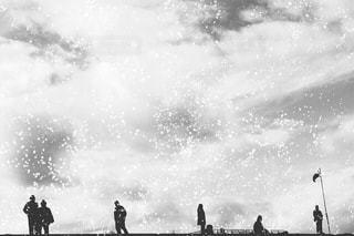雪の日の写真・画像素材[1686705]