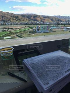 馬主席で競馬の写真・画像素材[1358103]