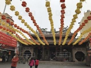 旧正月を祝う台湾のお寺の写真・画像素材[1755975]