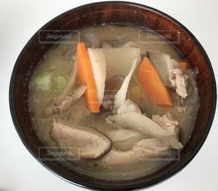 具沢山の豚汁の写真・画像素材[2739644]