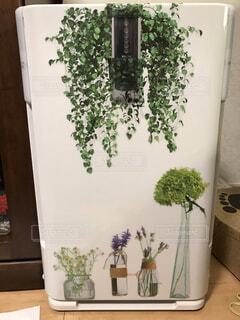 空気清浄機を春仕様にの写真・画像素材[4199161]