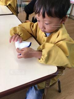 入園式終わってドキドキのお教室の写真・画像素材[1364072]