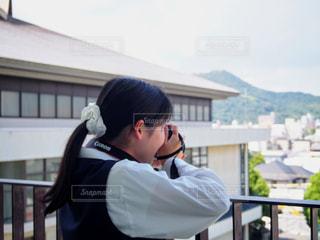 カメラ女子の写真・画像素材[1368685]
