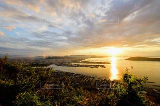 瀬戸内海の夕焼けの写真・画像素材[1415138]