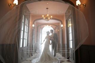 ウエディングドレスの写真・画像素材[1385865]
