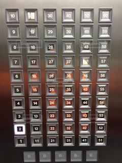 あべのハルカスのエレベーターのボタンの写真・画像素材[1366134]