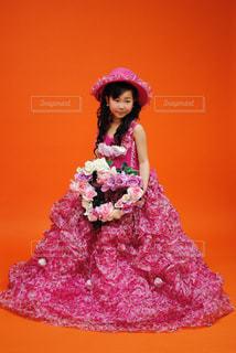 ドレス姿7歳の写真・画像素材[1383750]