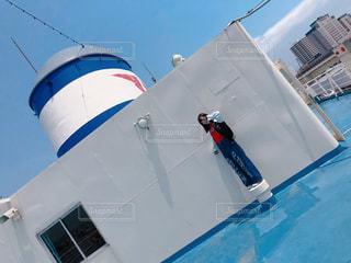 船の上の写真・画像素材[1363386]