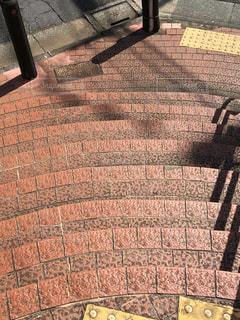 れんが造りの公園の階段の写真・画像素材[1521307]