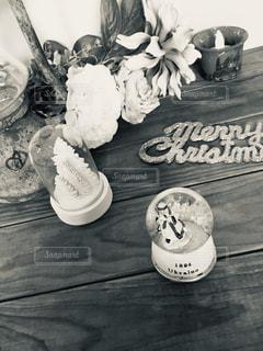 モノトーンの世界  クリスマスディスプレイの写真・画像素材[1568987]