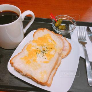 カフェ♡のモーニングセットの写真・画像素材[2185213]