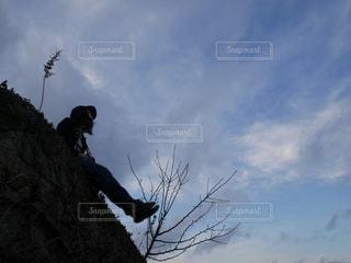 空と私の写真・画像素材[1366939]