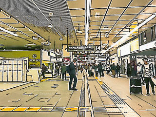 新宿駅南口構内コンコースの写真・画像素材[1744176]