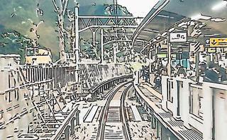 原宿駅ホーム工事中の写真・画像素材[1744689]