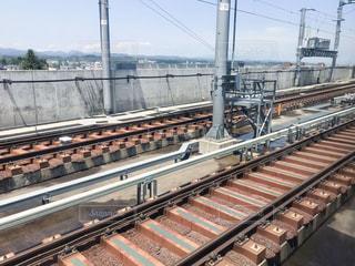 新青森駅の東北新幹線の線路の写真・画像素材[2255883]